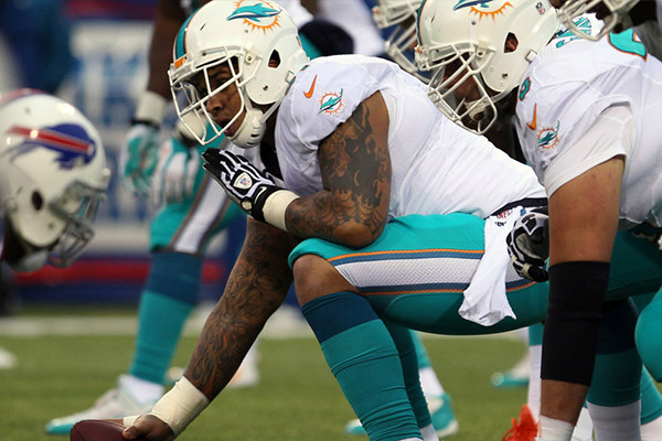 DOLPHINS POUNCEY MORENO BEGIN CAMP ON PUP LIST