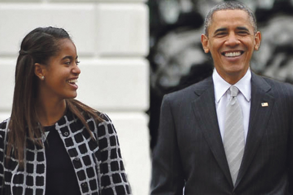 Obama weepy as Malia visits colleges