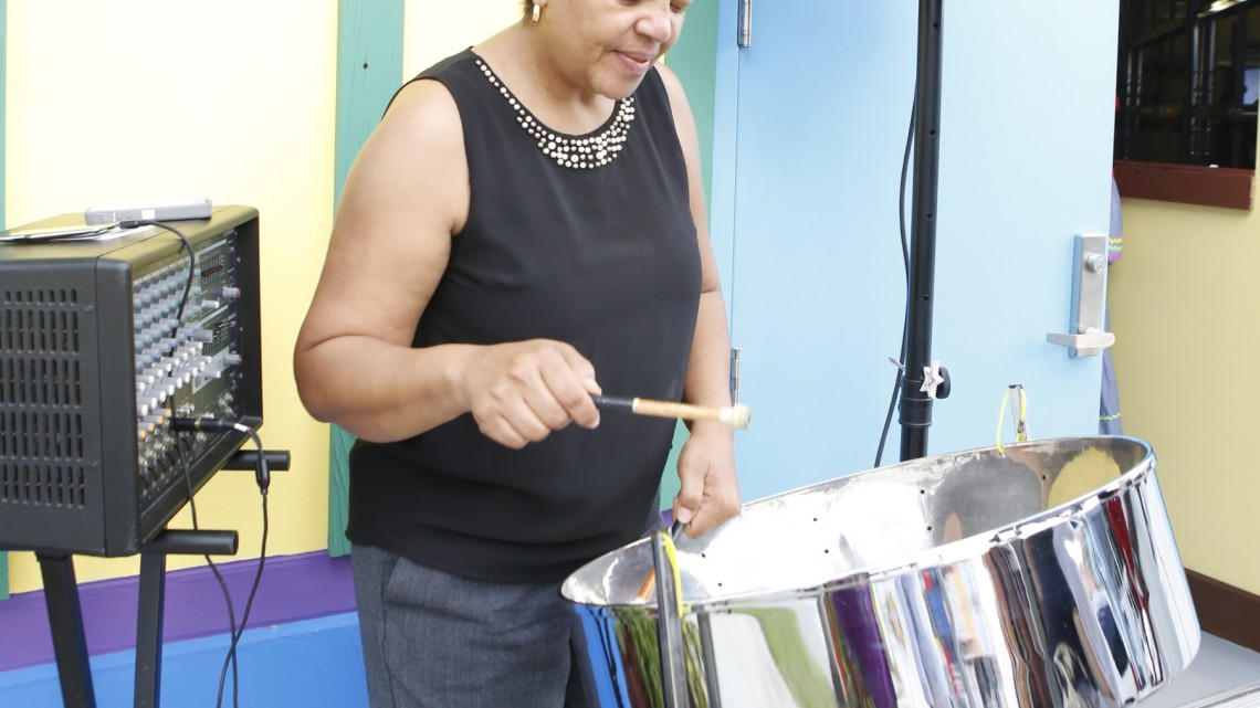 Steel Away plays the steel drum at the opening of the Caribbean Marketplace in Little Haiti.