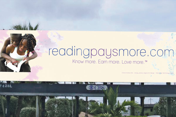 Billboard to lead to  more reading