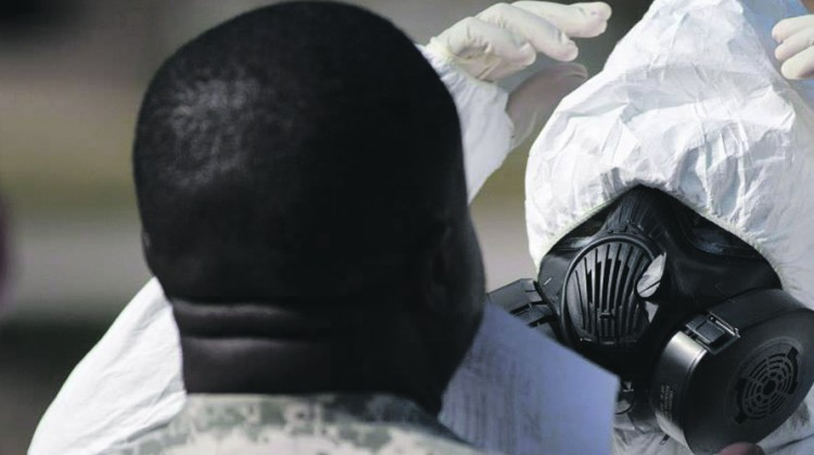 Fort Bragg troops train  to deal with Ebola spread