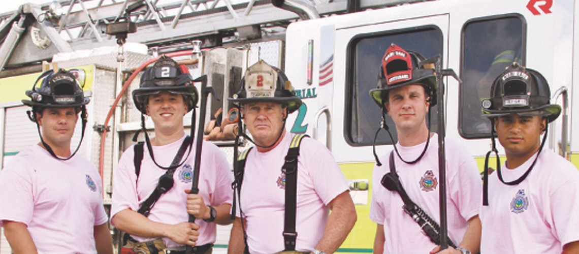 Miami-Dade firefighters don pink for Breast Cancer