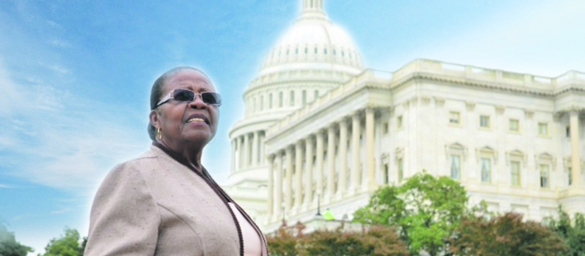 Oprah Winfrey salutes the mission of Estella Pyfrom