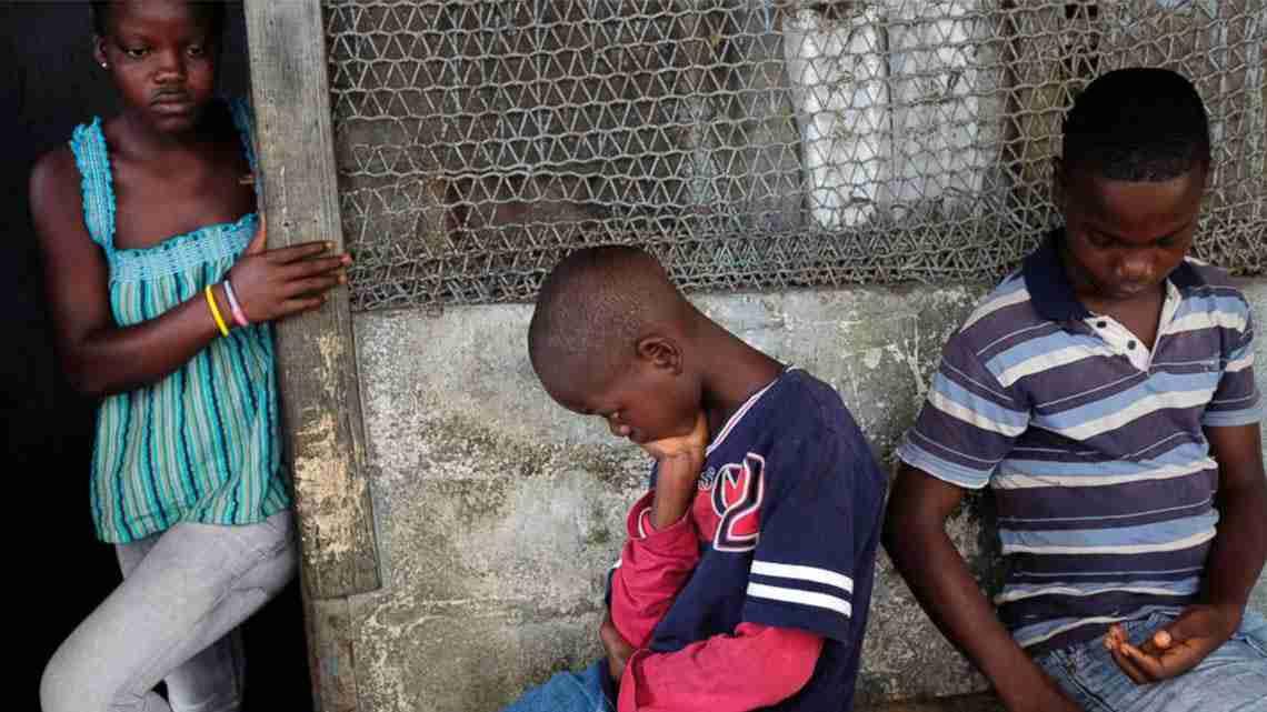liberian children orphan by ebola