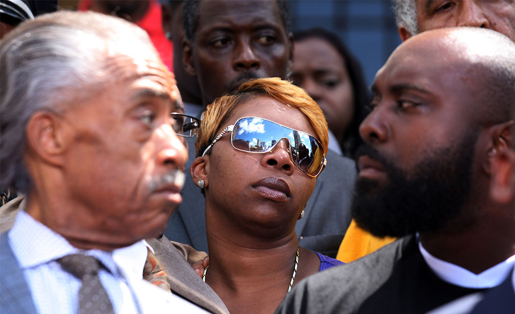 BROWN FAMILY URGES POLICE PROTESTER RESTRAINT