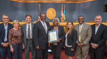 Moss honors Grove resident  Cooper for her civic activism