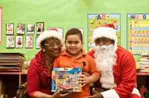 Jordan, kid and Santa