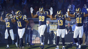 Rams take a memorable stance with gesture