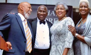 Riviera beach mlk banquet:  U.S. Congressman Alcee Hastings served as Master of Ceremonies and is photographed with Riviera Beach Councilman Bruce Guyton, Donna Brazile and Council Chairwoman Judy Davis.