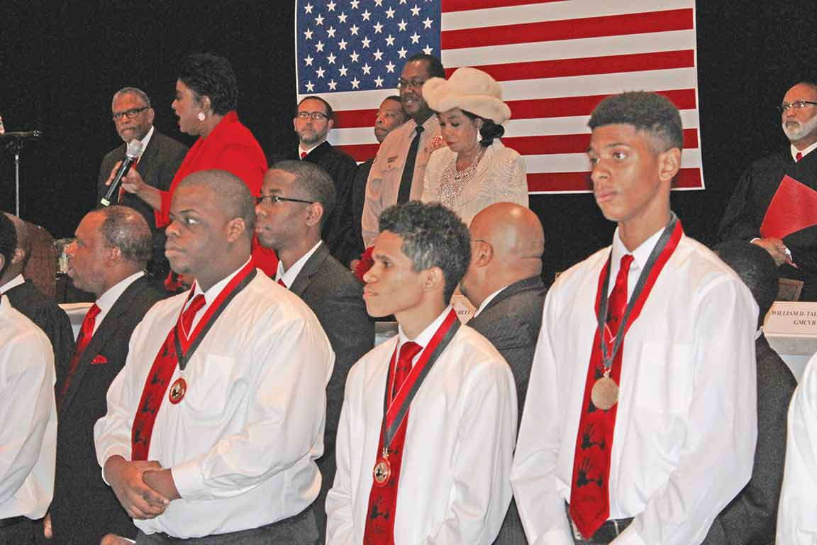 WILSON SCHOLARS: U.S. Rep. Frederica S. Wilson, ( D. FL) (center,) announces scholarships for 84 students in the 5000 Role Models of Excellence Project on Monday at the 22nd annual breakfast in honor of Dr. Martin Luther King Jr. Television personality Judge Glenda  A. Hatchett, who delivered the keynote address, was joined by several South Florida judges to recognize the Wilson Scholarship Recipients. The sold-out breakfast was at Jungle Island in Miami. The program has awarded more than $10 million in scholarships to date.