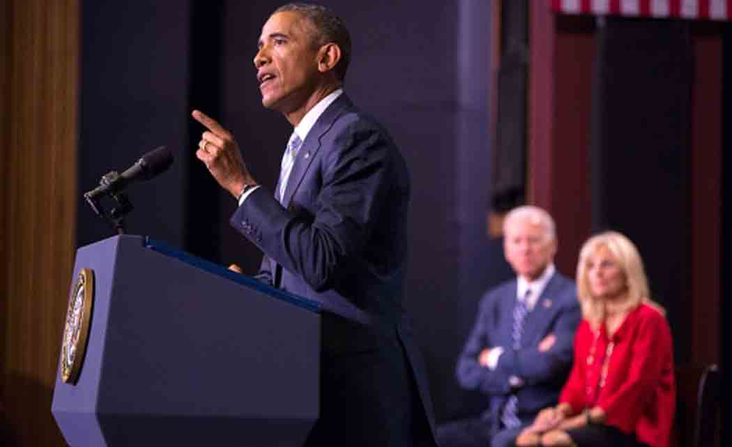 In a televised pep talk that had prompted criticism in advance from some conservatives, president obama on tuesday