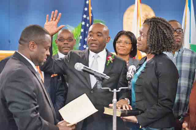 Miami-Dade County made history when Jean Monestime, became the first Haitian-American to serve on the Board of County Commissioners, and again when he took the oath as Chairman.