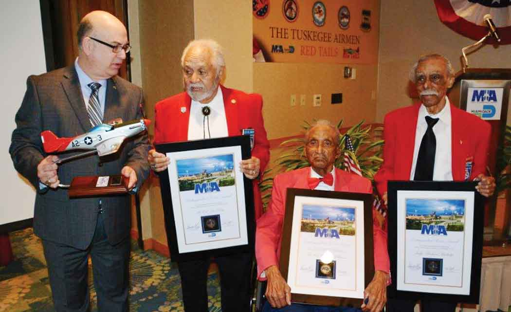 Miami-airport-honors-three-Tuskegee-Airmen,-famous-aviators