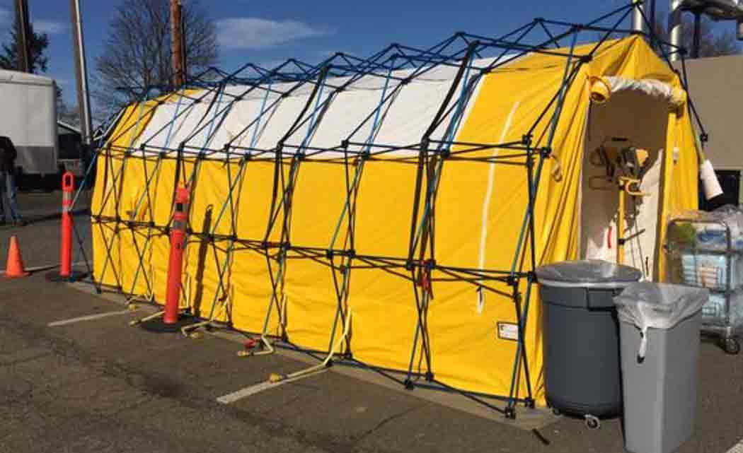 Port-Angeles-hospital-erects-measles-tent-to-screen-patients