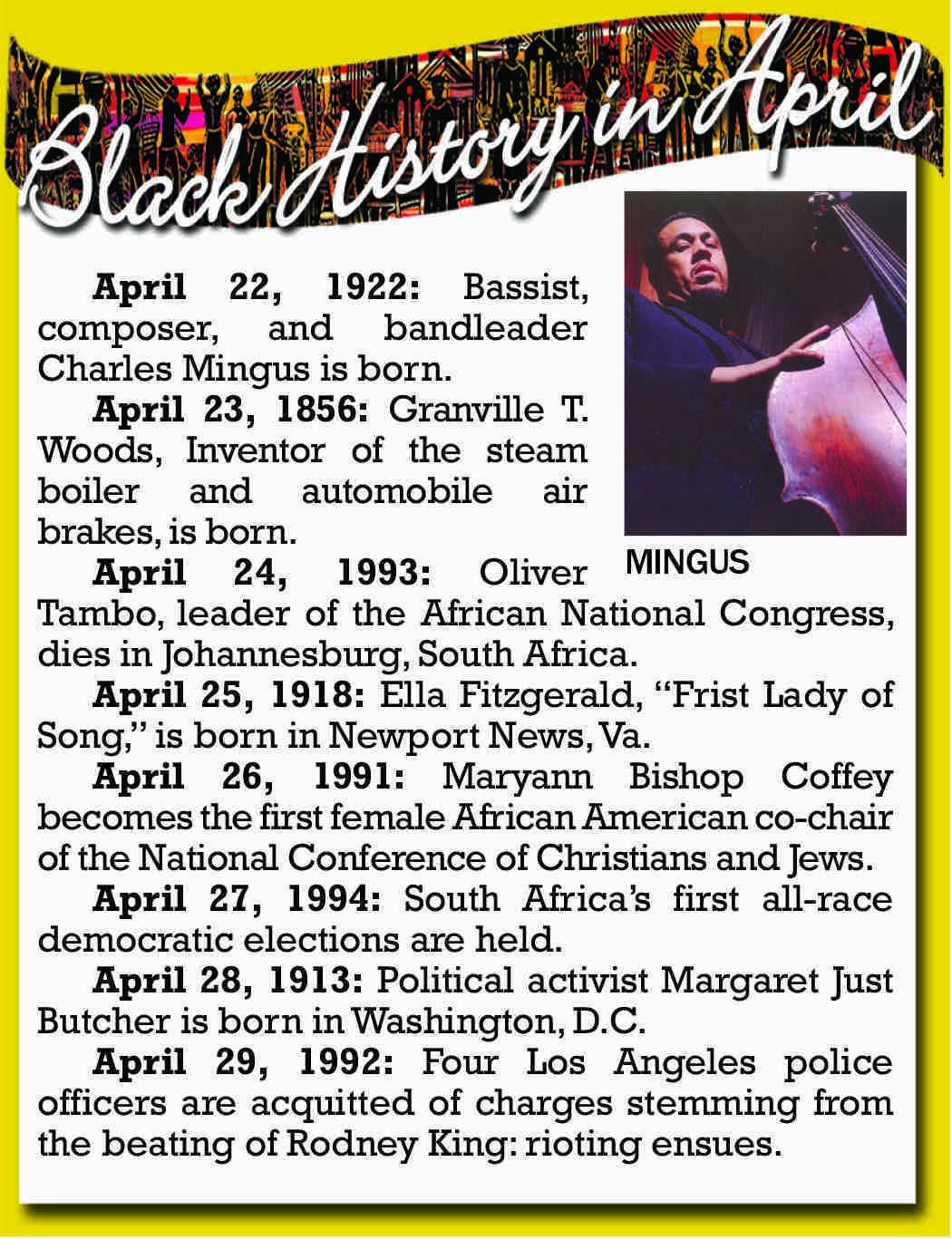 black history april 23