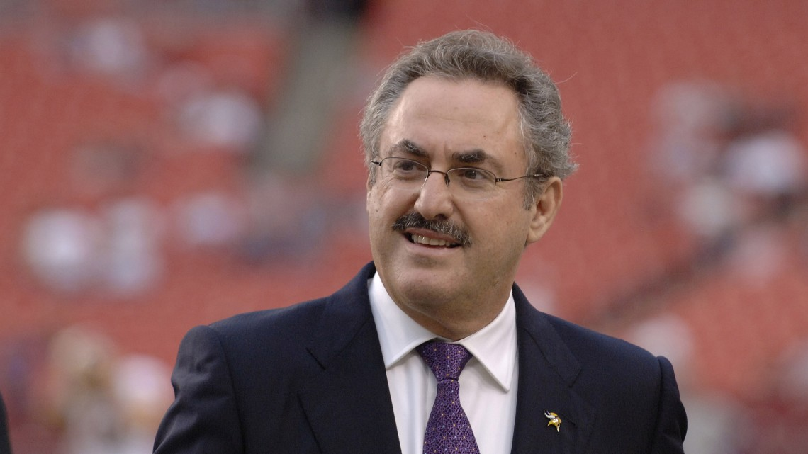 Minnesota Vikings owner Zygi Wilf on the field before  ESPN Monday Night Football September 11, 2006 in Washington.  The Minnesota  Vikings defeated the Redskins  19 - 16.  (Photo by Al Messerschmidt/Getty Images)