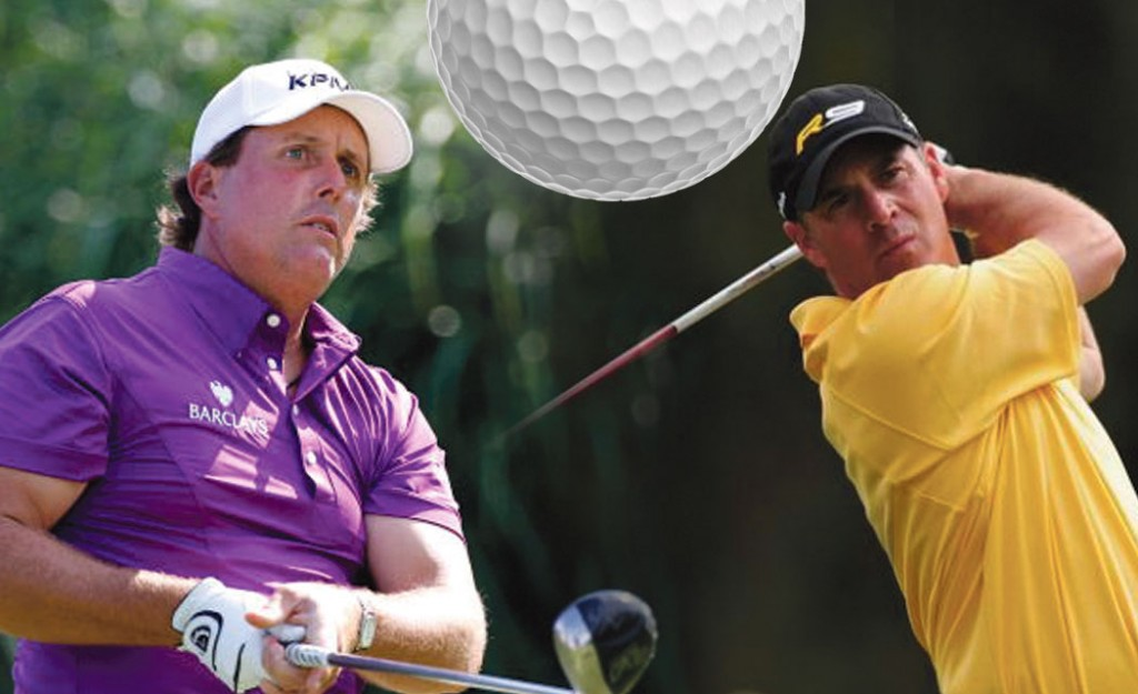 (Left to right) Phil Mickelson and Scott McCarron.