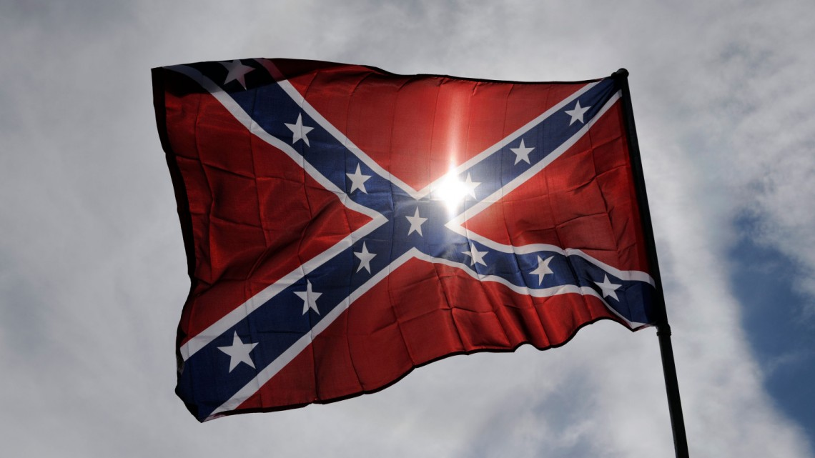 Confederate flag for sale at Vermonster 4x4 Rally