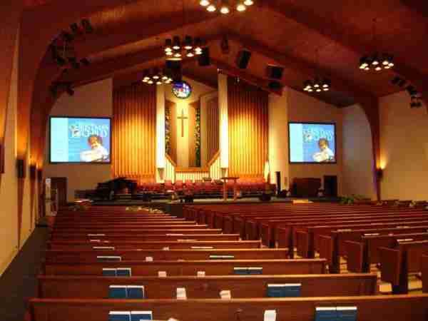 projetion screen church