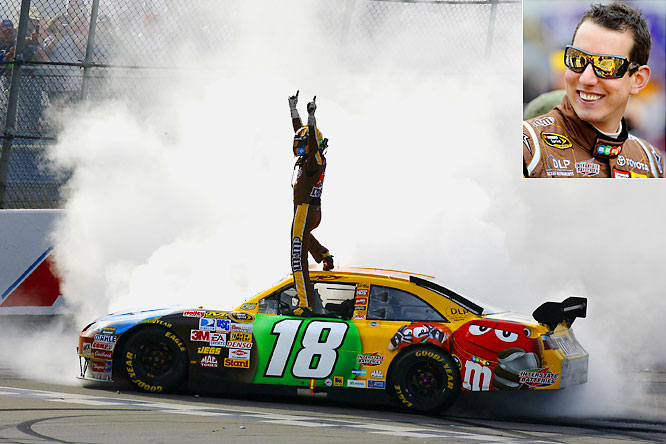 Kyle busch races to 3rd win of year moves closer to chase south florida times - Pictures of kyle busch s car ...
