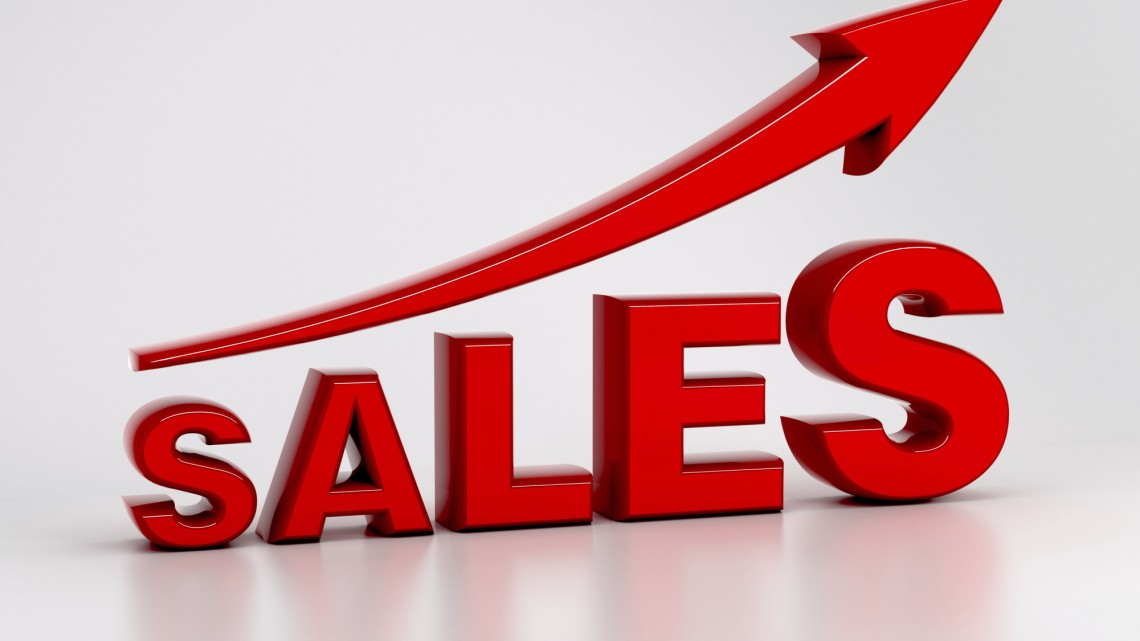 Sales Growth with arrow symbol (concept image)