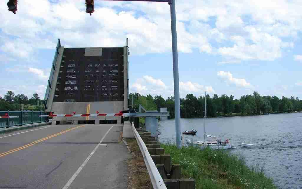 Lake Champlain drawbridge