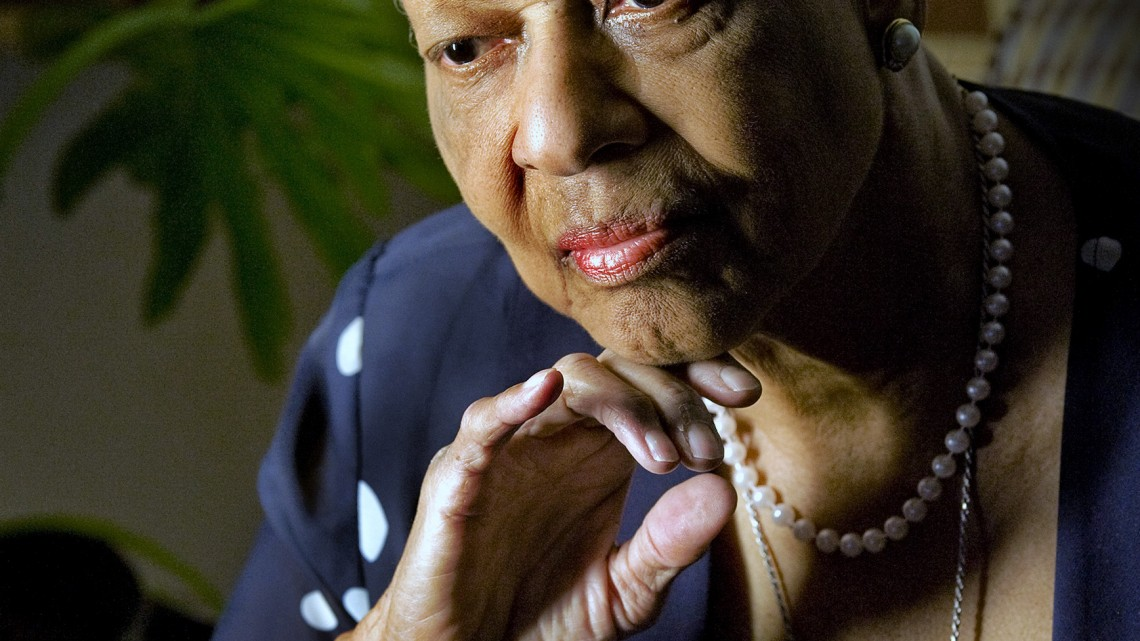 Bowie, MD - November, 17: Evangeline Moore, 81, at home on November, 17, 2011 in Bowie, MD.  She is still seeking justice for the murder of her parents in Florida by a bombing in 1951. (Photo by Bill O'Leary/The Washington Post)