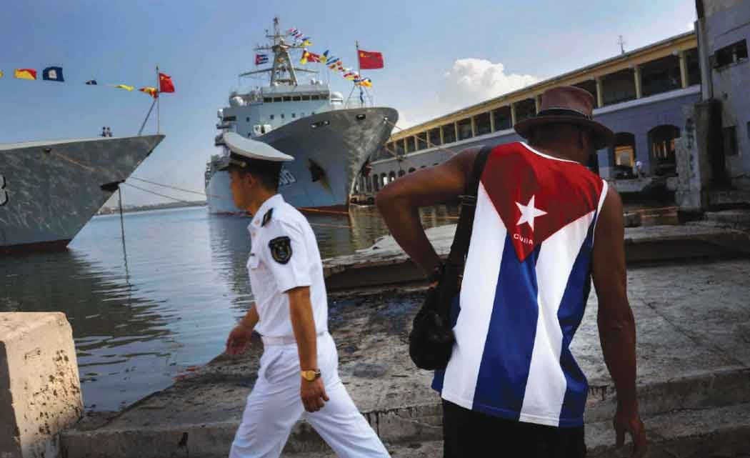 Chinese-warships--arrive-at-Cuban-port