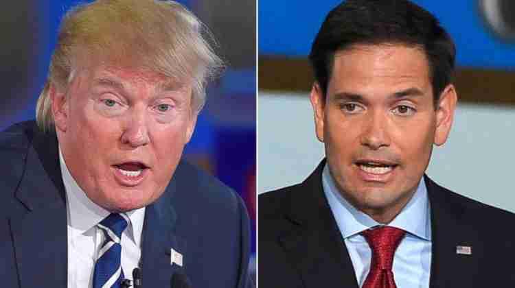 Trump  vs Rubio