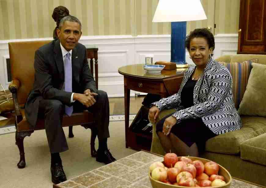 Barack Obama and Loretta Lynch