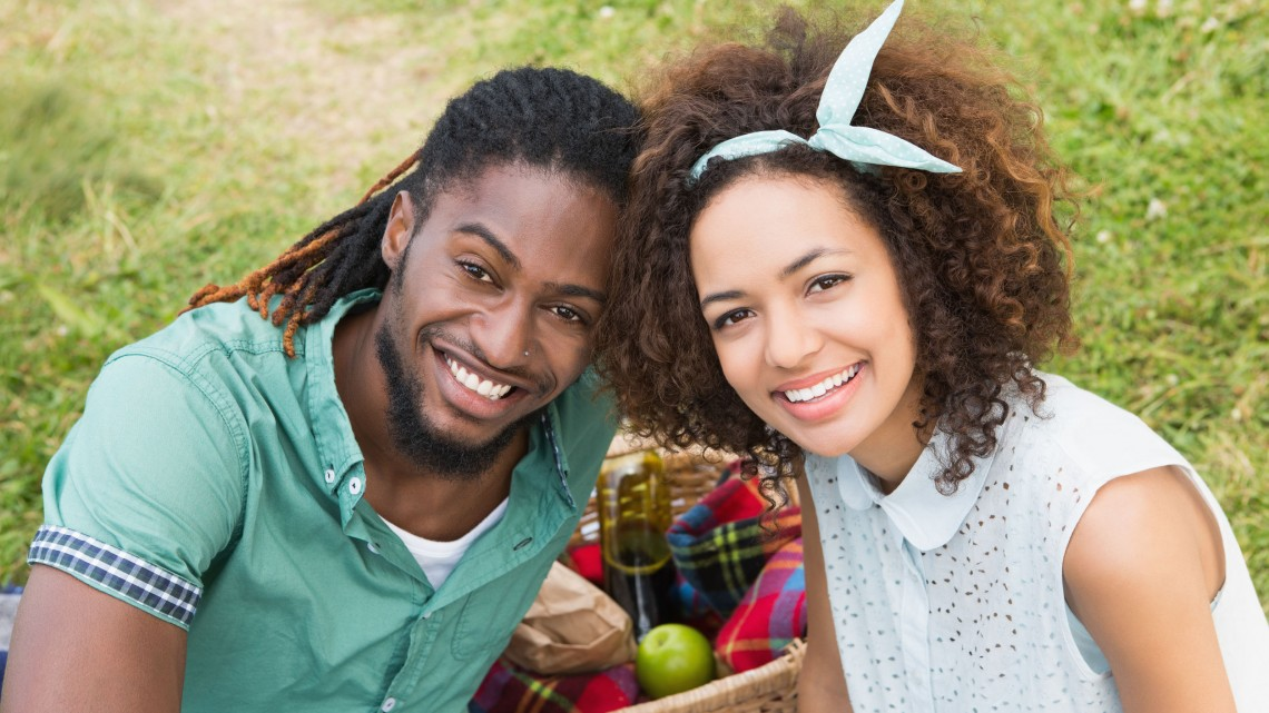36410885 - young couple on a picnic on a sunny day
