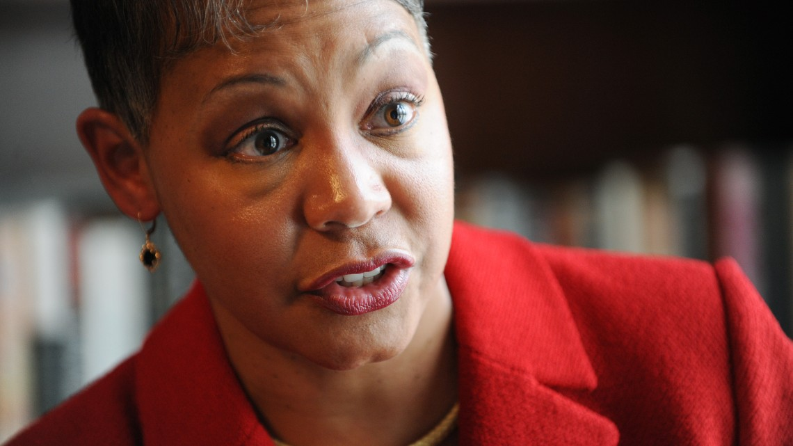 090401.  EMBARGOED UNTIL THURSDAY.  Lisa Borders cq, Atlanta City Council president, talks with AJC's Eric Stirgus about her upcoming announcement to run for Mayor of Atlanta.  She will make her announcement Thrusday on the steps of City Hall.  For Eric Stirgus story.  RICH ADDICKS / raddicks@ajc.com