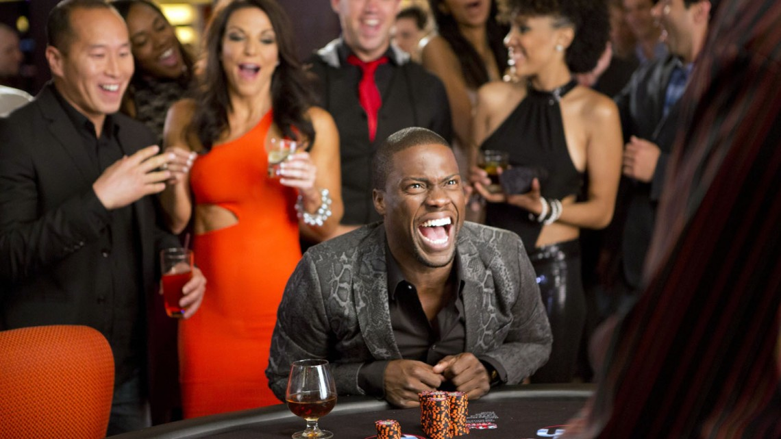 """This photo released by Sony Pictures shows Kevin Hart, center, as Cedric in a scene from Screen Gems' """"Think Like A Man Too."""" (AP Photo/Sony Pictures, Matt Kennedy)"""
