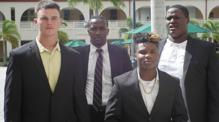 Jacob Mually, Jervonte Edmonds, Raymond Austin, Christopher Thomas students of Boynton Beach High School