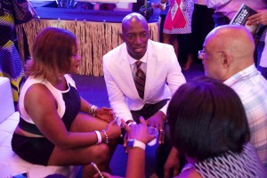 8C-Miramar Mayor Wayne Messam engaged with attendees - Photo by Gregory Reed