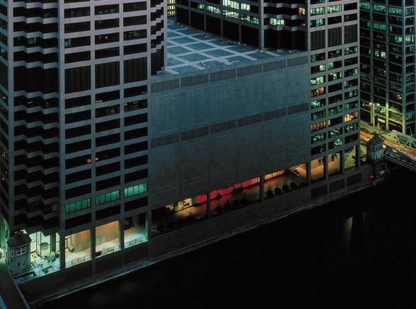 CME_Center_riverwalk_at_night