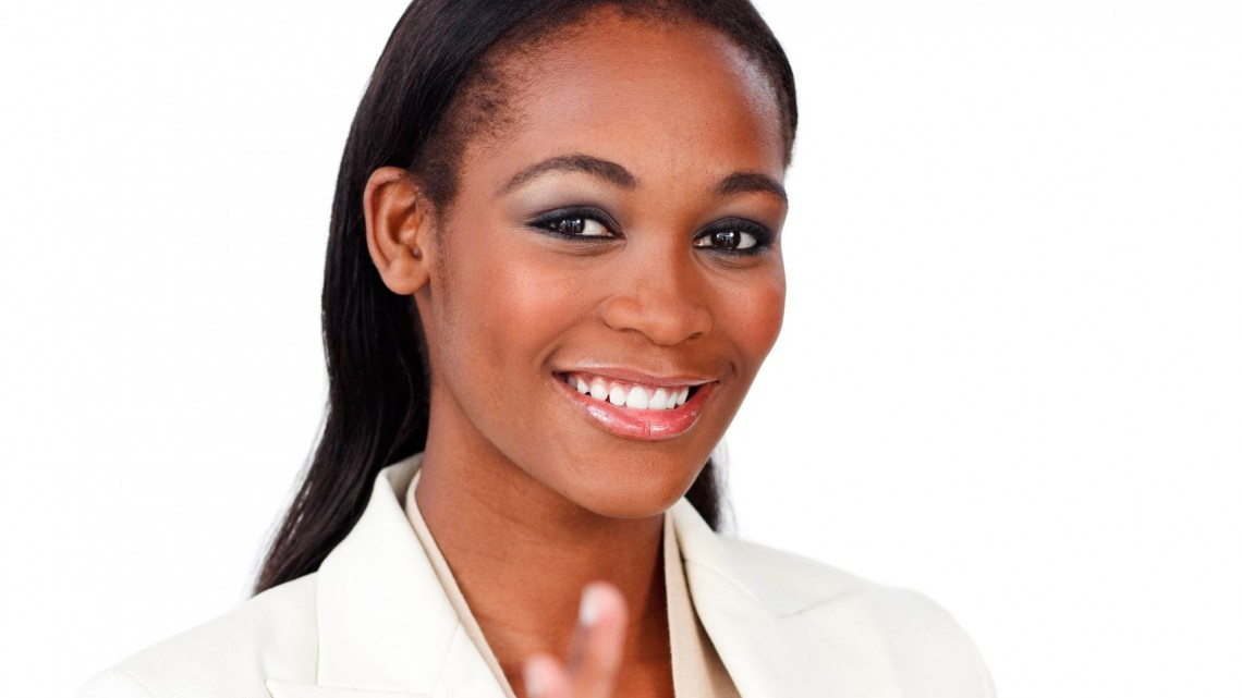 10095799 - positive businesswoman showing ok sign